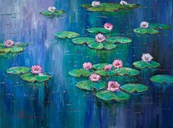 Serene VII by Villalba - Original Painting on Box Canvas sized 47x35 inches. Available from Whitewall Galleries